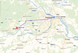 маршрут эвакуатора в нижнем новгороде: Дзержинск - Нижний Новгород, буксир 24