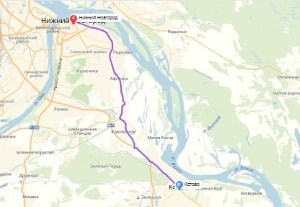 маршрут эвакуатора в нижнем новгороде: Нижний Новгород - Кстово, буксир 24