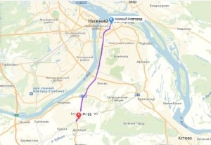 маршрут эвакуатора в нижнем новгороде: Трасса Р-158 - Нижний Новгород, буксир 24